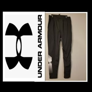 UNDER ARMOUR Boys Black Fitted Jogger Pants LG